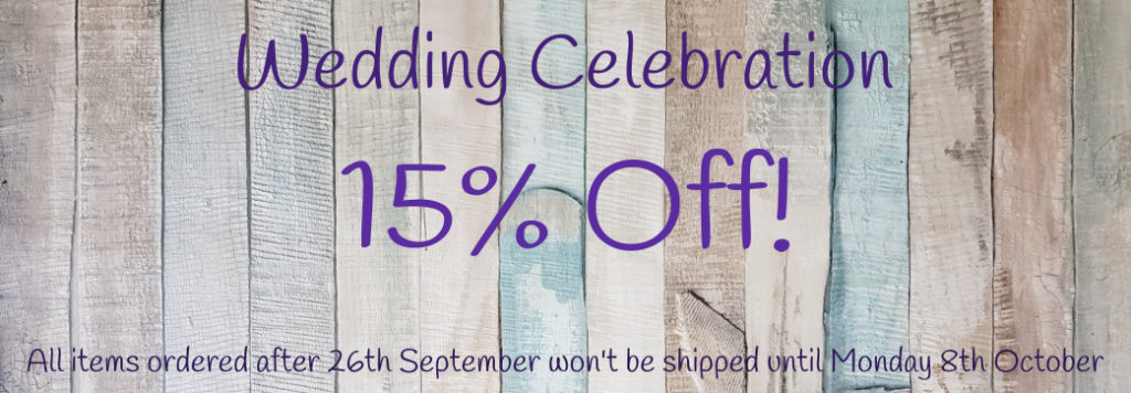 Wedding Celebration Sale - 15% Off!