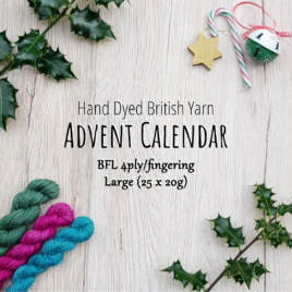 Large Bluefaced Leicester 4ply Advent Calendar – Hand Dyed British Yarn