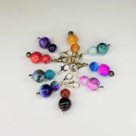 Glass Bead Crochet Progress Markers