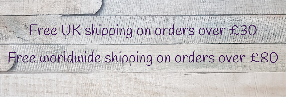 Free UK shipping on orders over £30. Free worldwide shipping on orders over £80.