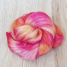 Stargazer Lily #3- No-Nylon Sock Yarn