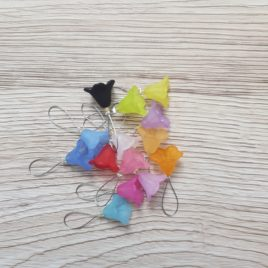 Large Bluebell Knitting Stitch Markers