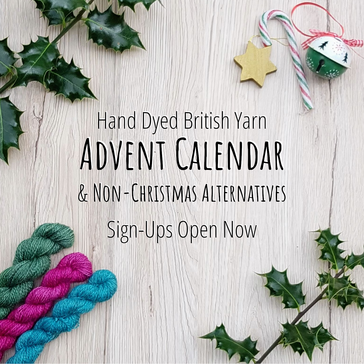 Page Title: Hand Dyed British Yarn Advent Calendar & Non-Christmas Alternative