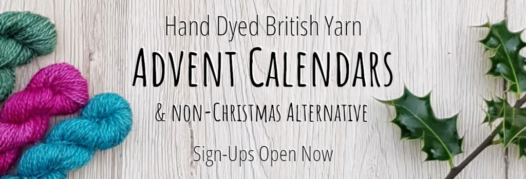Hand Dyed British Yarn Advent Calendar & Non-Christmas Alternative