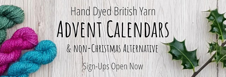 Hand Dyed British Yarn Advent Calendar & Non-Christmas Alternative
