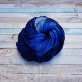 Navy yarn with blue flashes