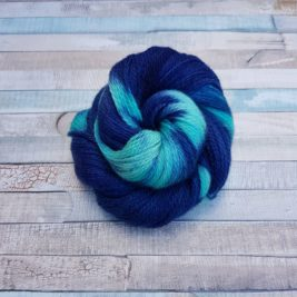 Navy yarn with turquoise flashes
