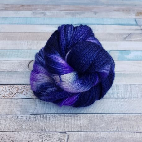 Navy yarn with purple flashes
