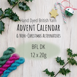 British BFL DK Yarn Advent Calendar/Yarn Box: 12 x 20g