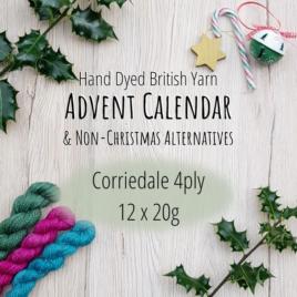 Falkland Corriedale 4ply Yarn Advent Calendar/Yarn Box: 12 x 20g