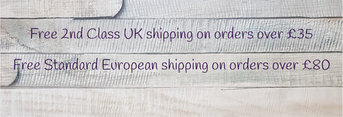 Free UK shipping orders over £35, Free European shipping orders over £80