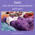 10% off Corriedale/Mohair Sock Yarn!