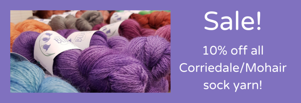Sale! 10% off all Corriedale/Mohair Sock Yarn
